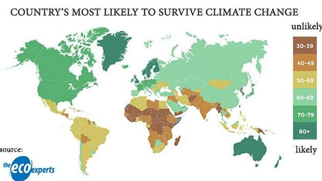 Which Countries Will Survive Climate Change JoNova - Map after global warming