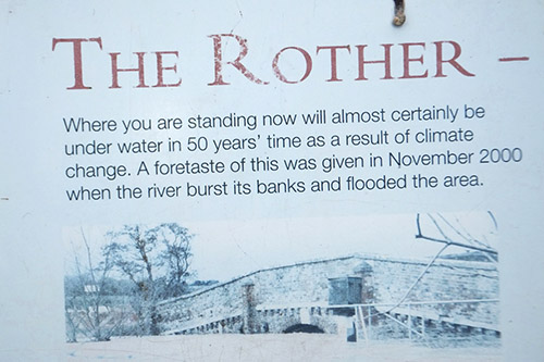National Trust UK, Sign, Rother, Floods and Climate Change