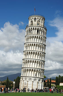 Galileo's Leaning Tower of Pisa experiment