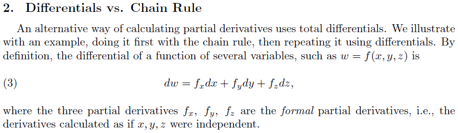 Total differential rule from Auroux